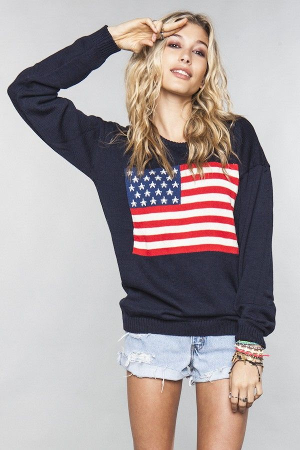 Brandy Melville betsy flag sweater.