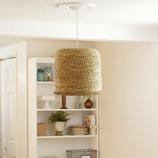 At Home In Love Teaches Us How To Make This Beautiful Basket Pendant Lamp  In Three