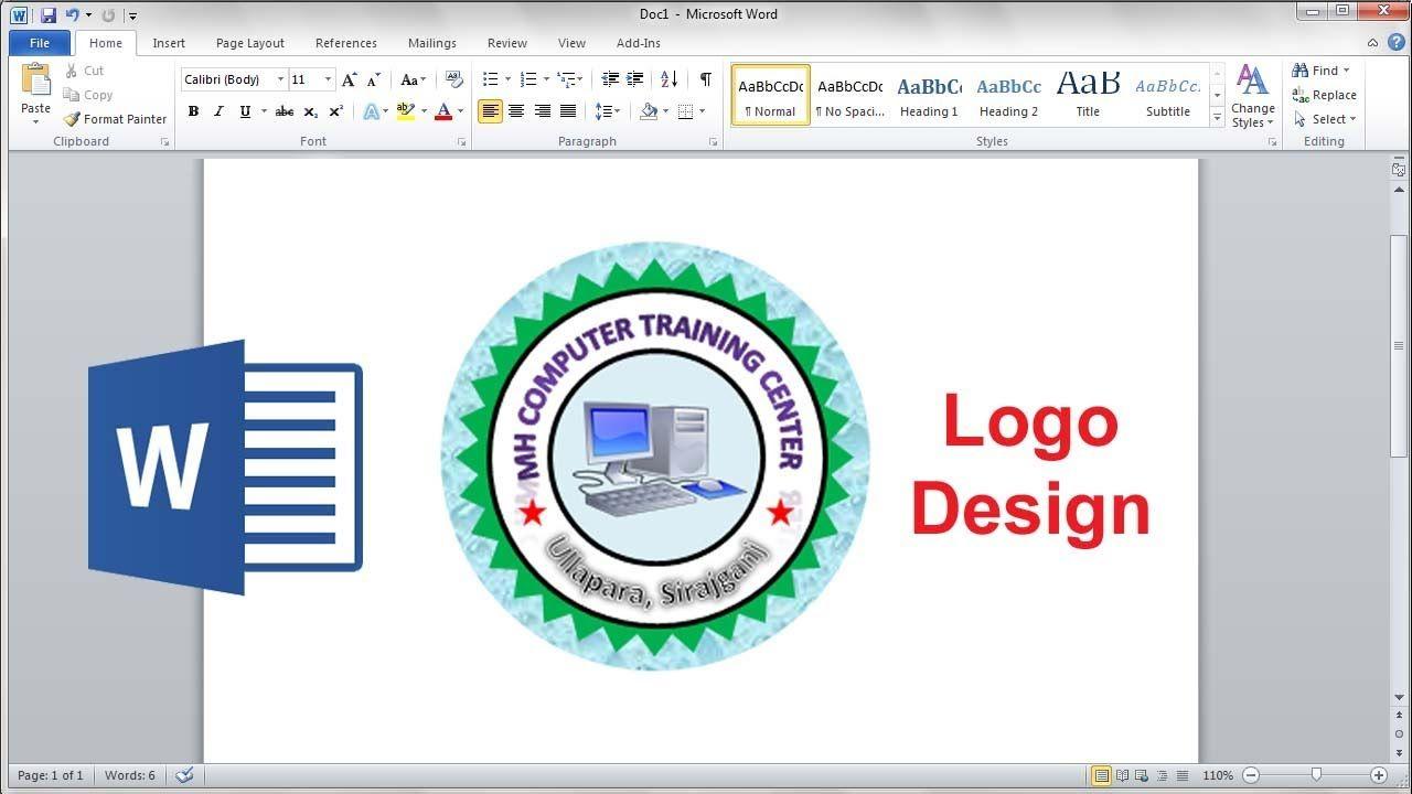 How To Make Professional Circle Logo Logo Design In Microsoft Word Education Logo Design Logo Design Circle Logos