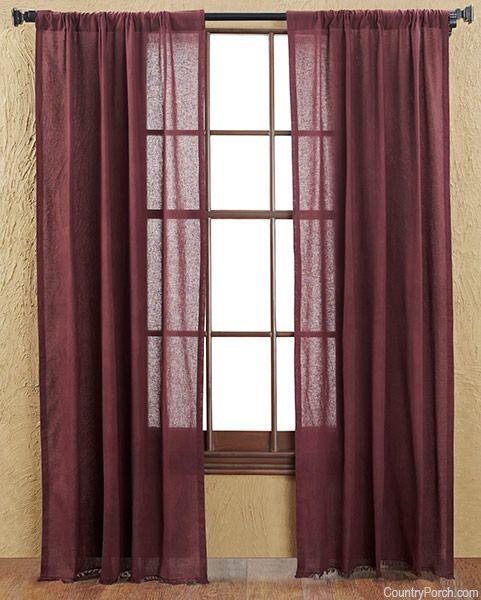 Merlot Tobacco Cloth Curtain Panels