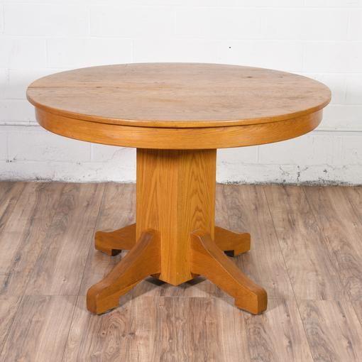round oak dining table | sockel, spieltische und möbel, Wohnzimmer dekoo
