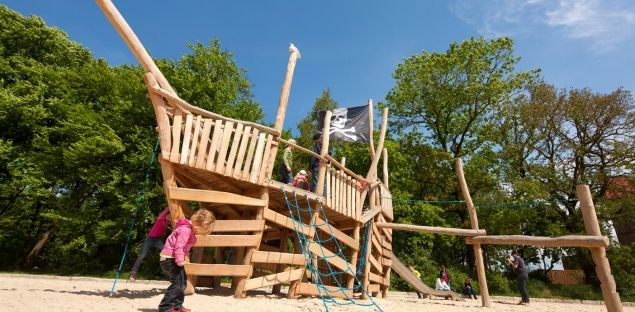 Pirate Beach: a play beach perfect for climbing and clambering around
