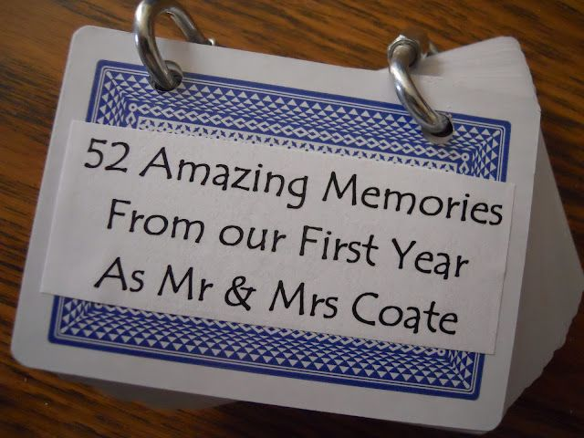 A diy st anniversary gift memories super cute wish i