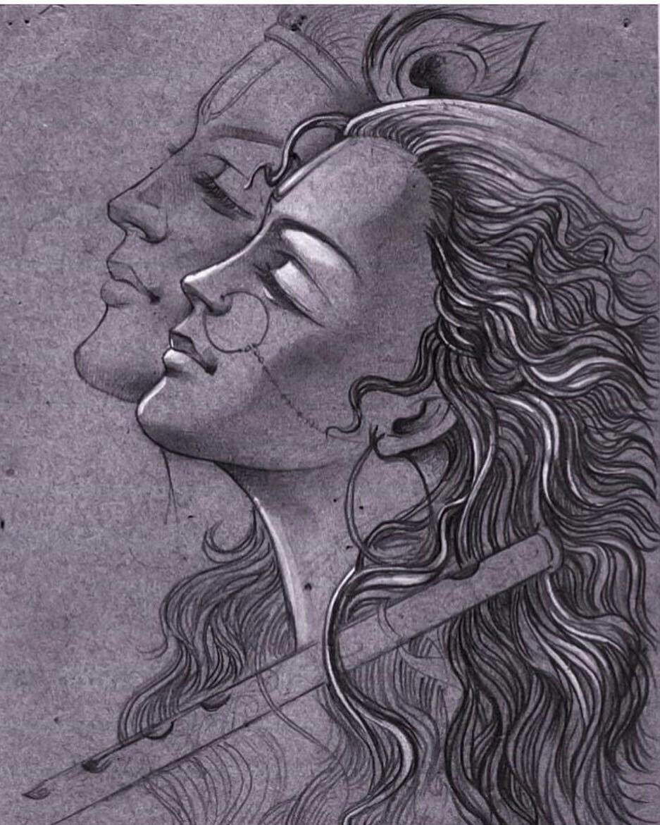 Discover ideas about radha krishna sketch