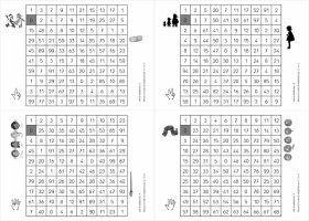 4 petites fiches pour m moriser les tables de - Jouer avec les tables de multiplication ...