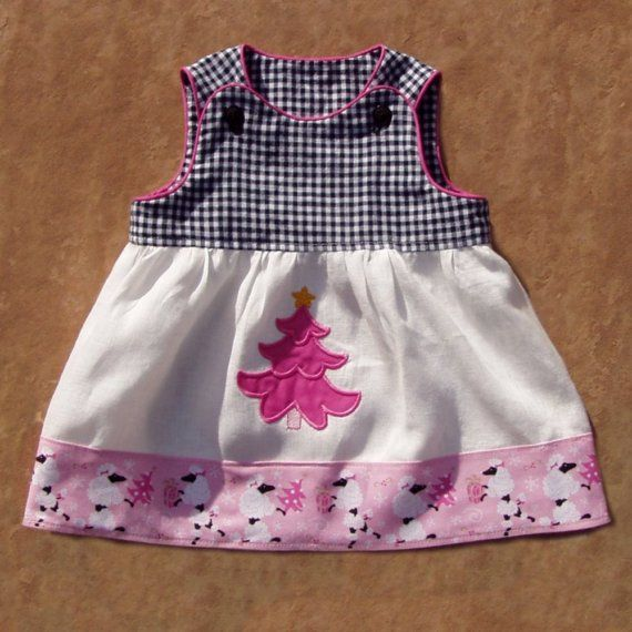 FiFi Christmas Infant Dress size newborn by ArtsyCrafty on Etsy, $18.00