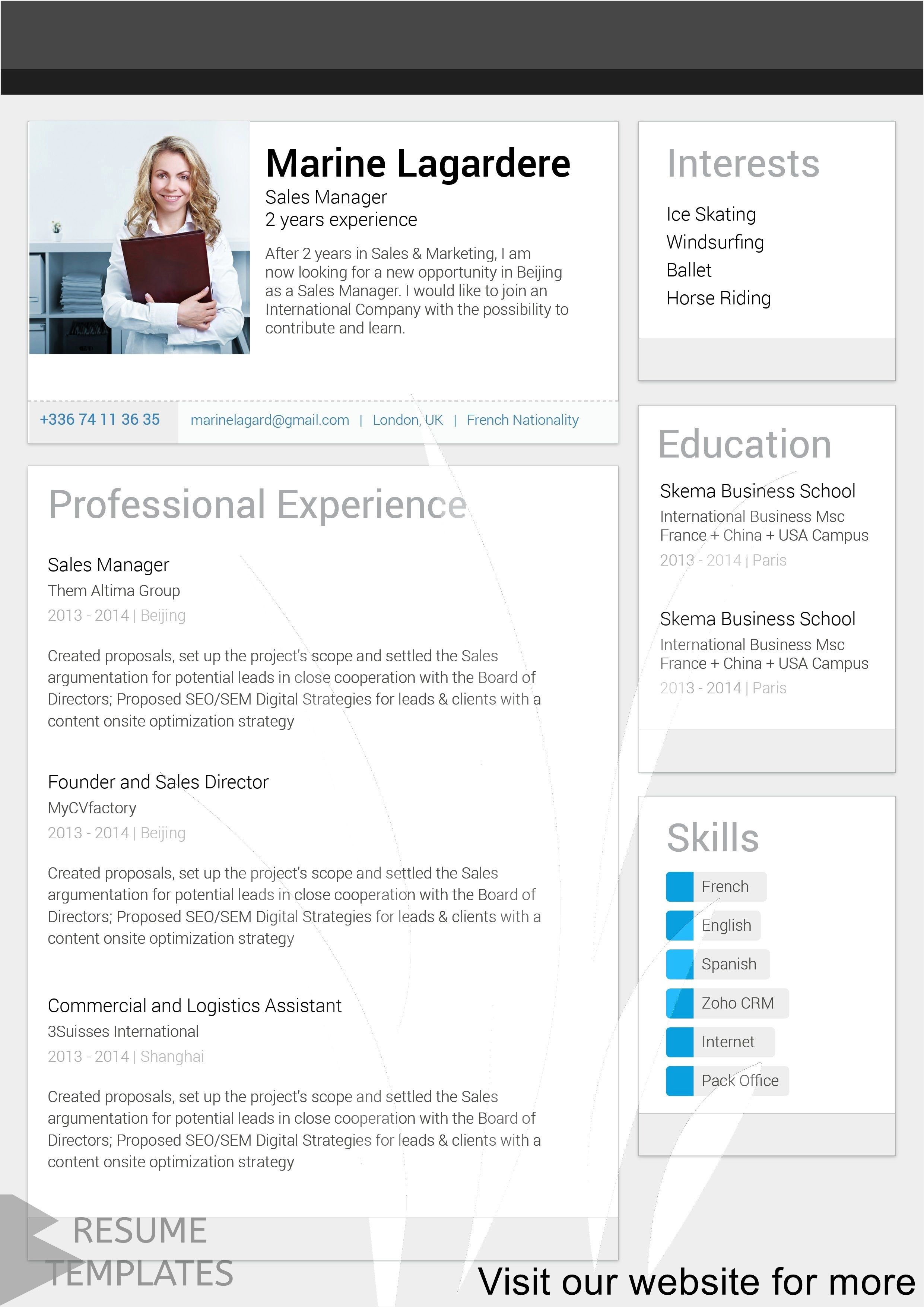 resume builder canva Professional in 2020 Resume