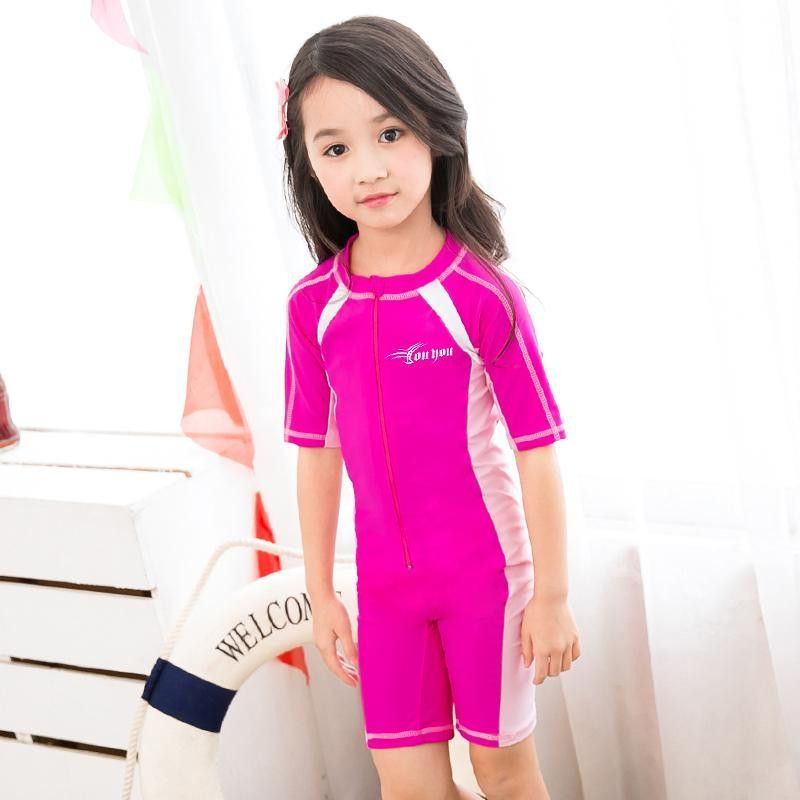 cf681f9e7e545 Child Swimwear One Piece Boys Girls Swimsuits Kids Bathing Suits Baby  Swimsuit Girl Children Beach Wear Diving Swimming Suit