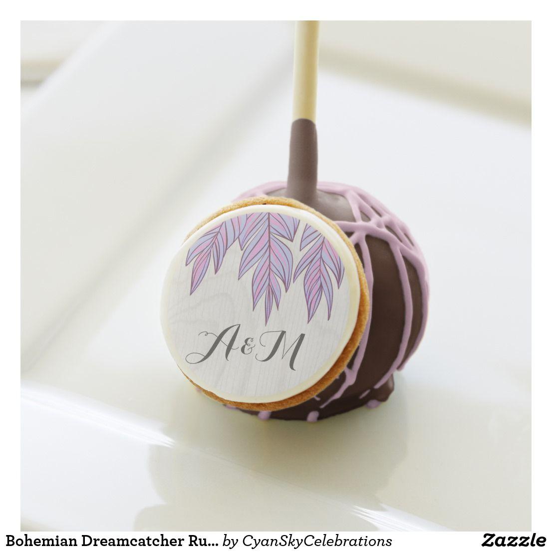 Bohemian dreamcatcher rustic wedding cake pops zazzle