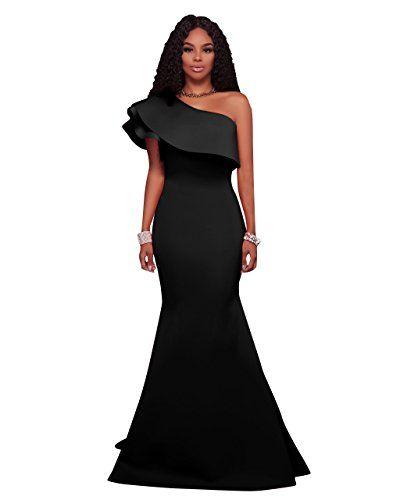 dfebbbb83f7 MEI S Oblique de la femme élégante de l épaule robe de bal robe de soirée