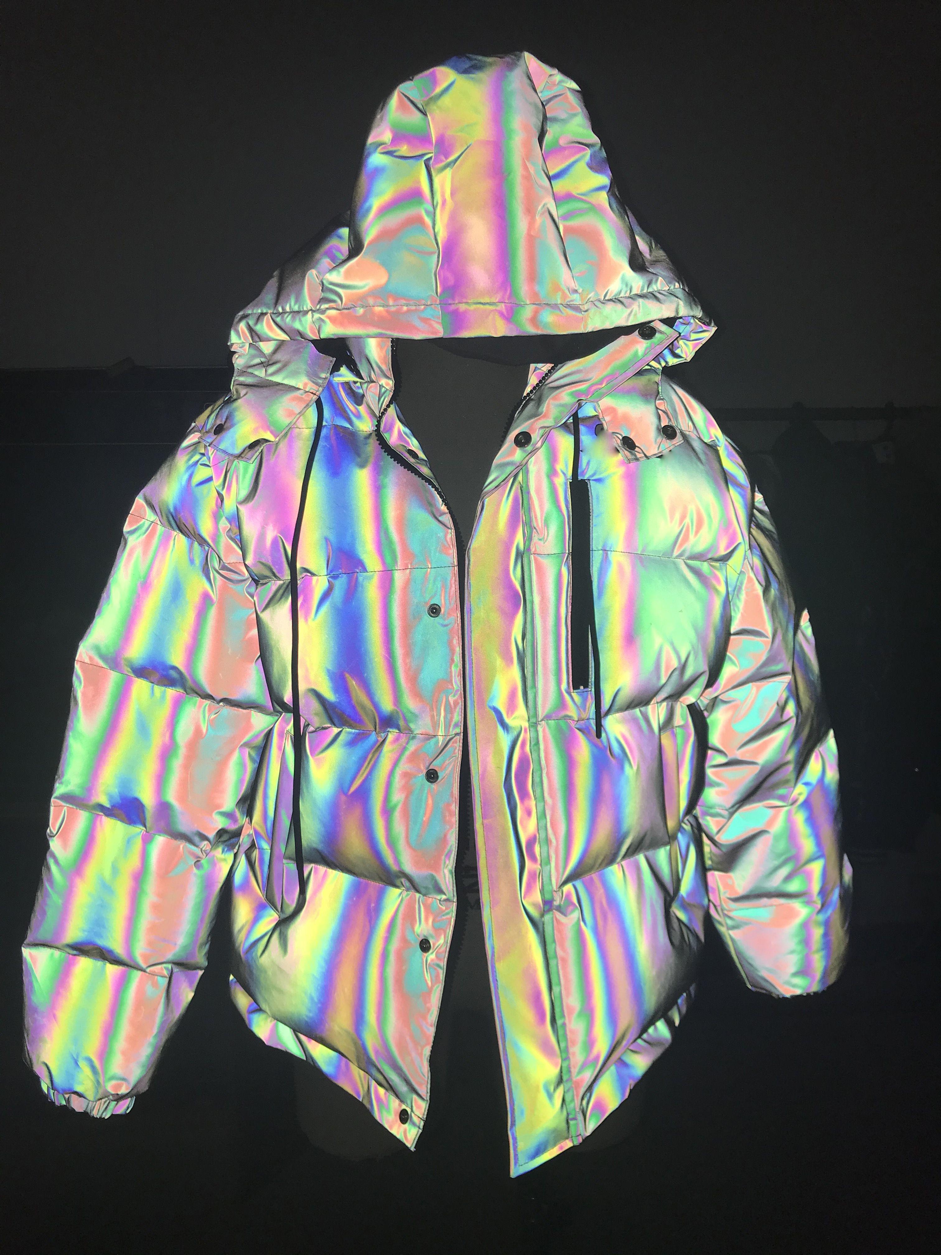Cotton Filled Color Reflective Bubble Coat Winter Rainbow Puffer Jacket Buy Rainbow Puffer Jacket Color Reflect Bubble Coat Colorful Coat Coats Jackets Women [ 4032 x 3024 Pixel ]