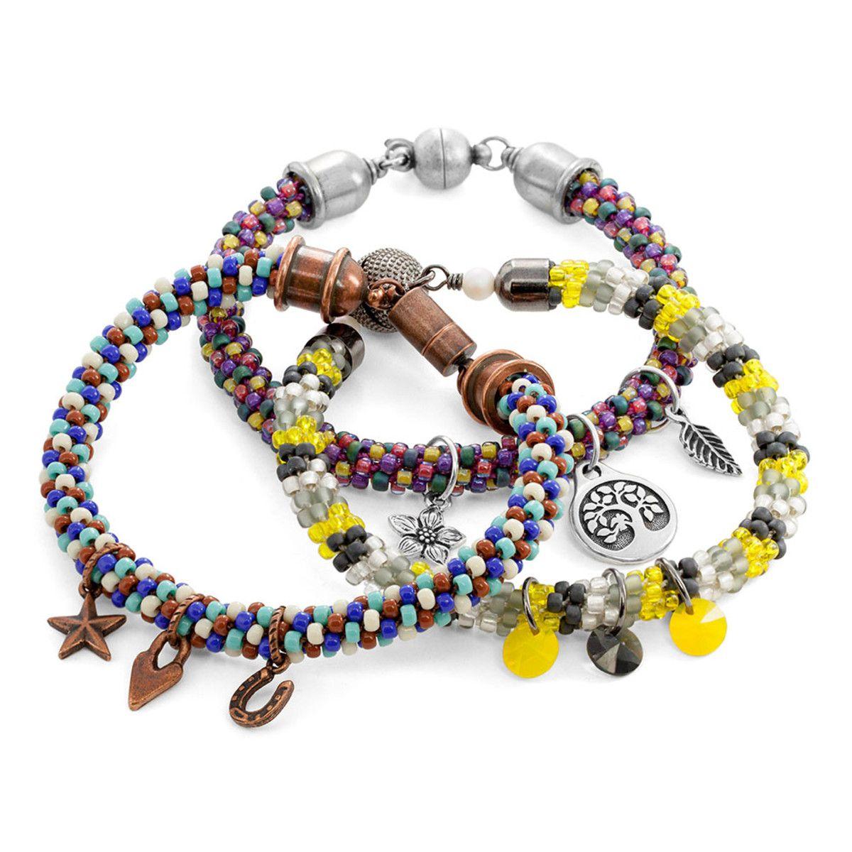Kumihimo Charm Bracelet | Fusion Beads Inspiration Gallery