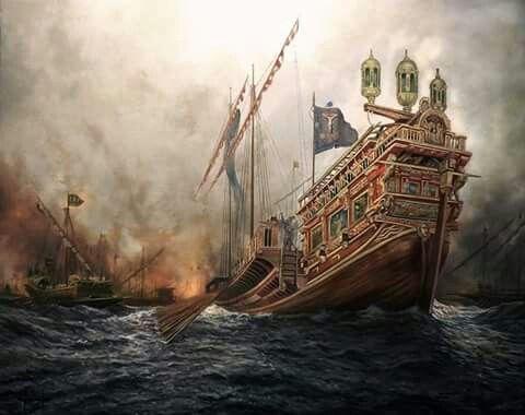 """Galera """"La Real"""", Batalla de Lepanto 1571"""