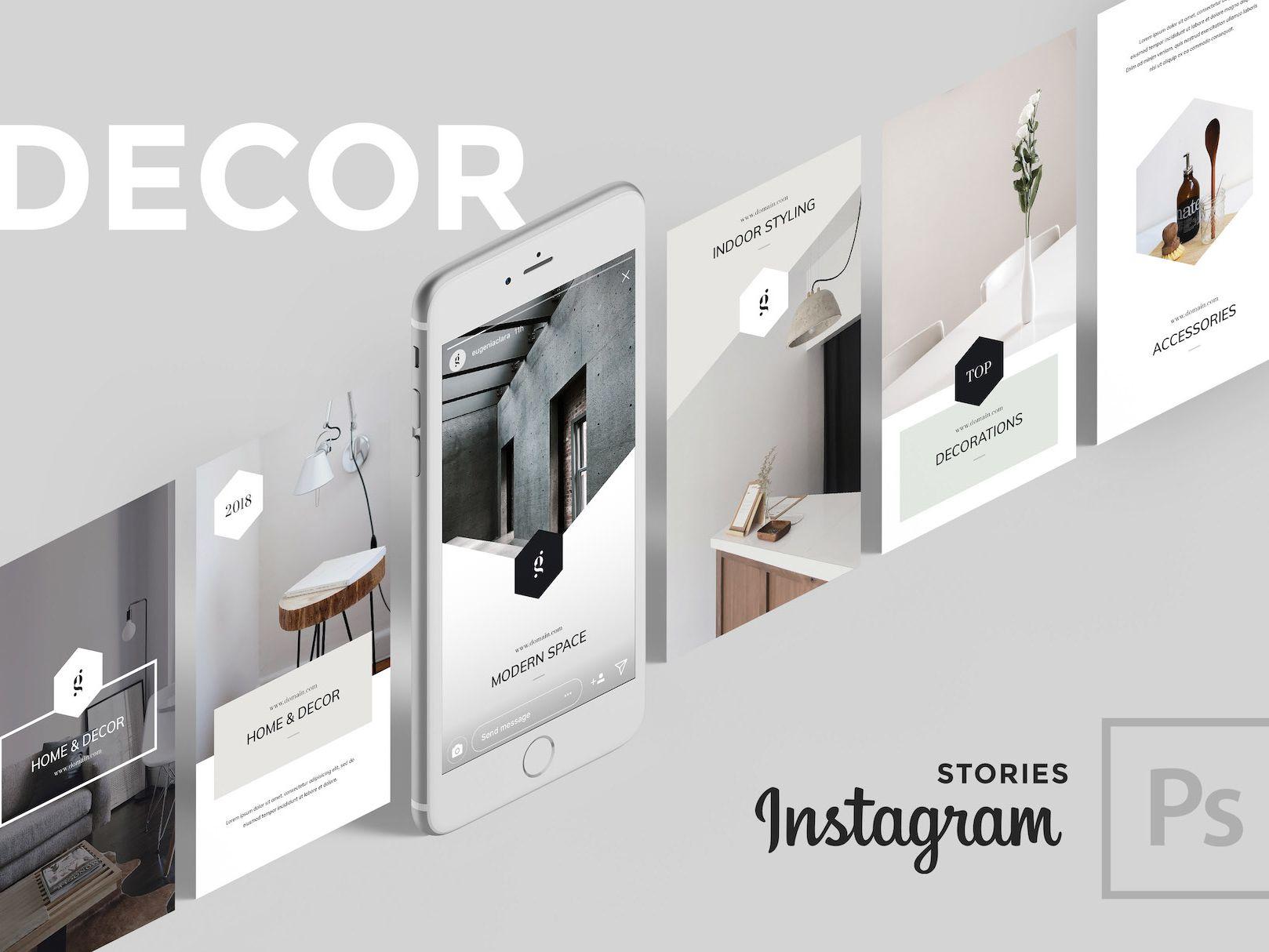 DECOR PSD Instagram Stories | Best of dribbble | Instagram
