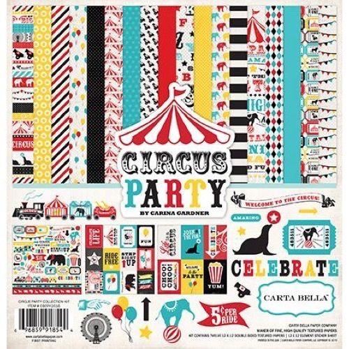 Carta Bella Scrapbook Paper Collection Kit - Circus Party