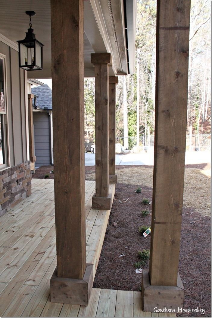 Balcony Pillar Design: Ruby Moved In The Lake Cottage