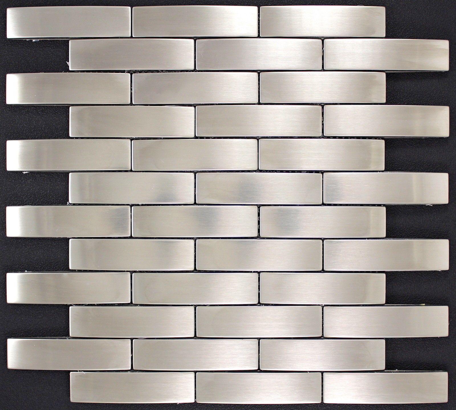 Mosaik Fliesen Aus Edelstahl Mifac Länge Cm Breite - Mosaik fliesen größe