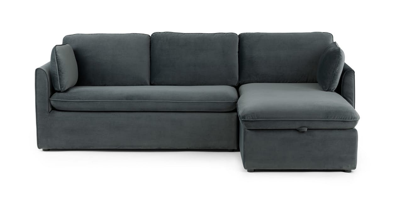 Oneira Deep Sea Blue Right Sofa Bed In 2020