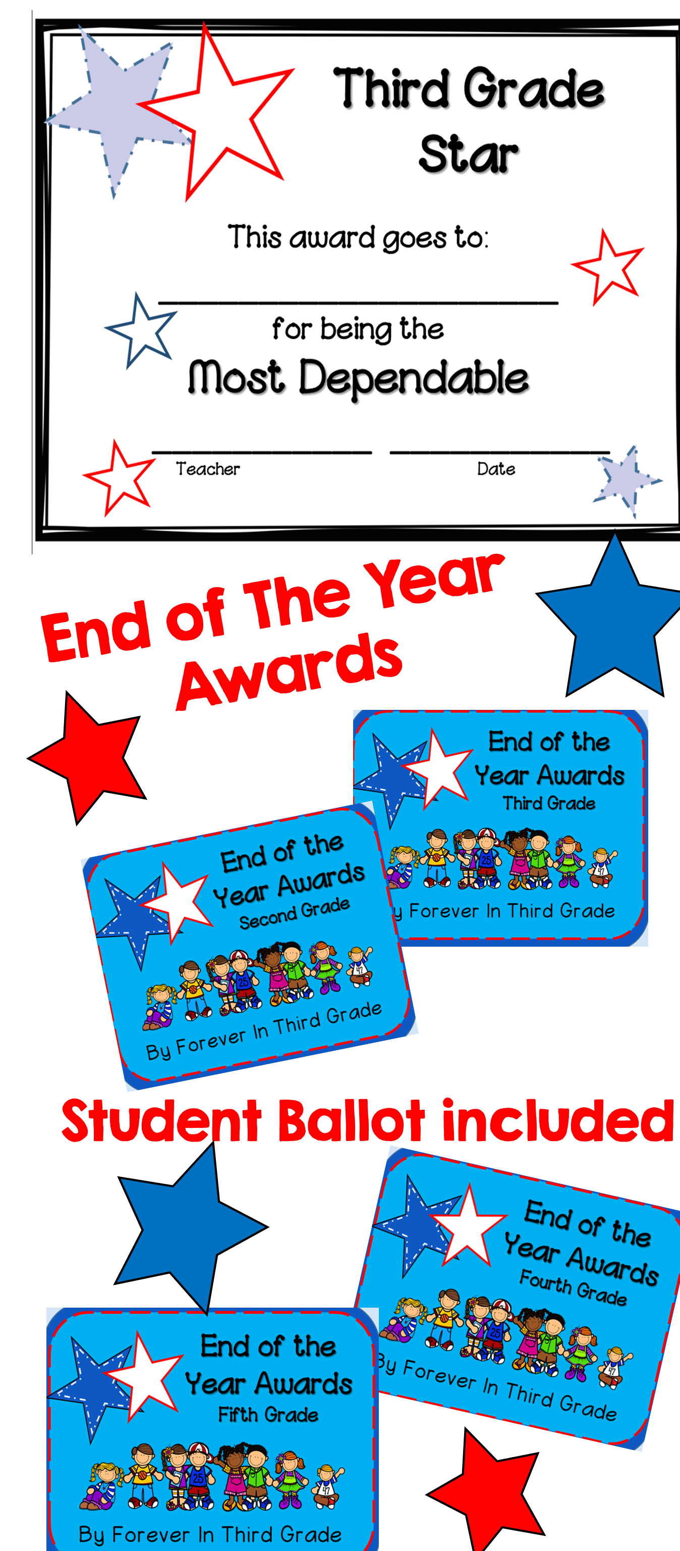 End of the year awards for each grade level 2 6 a class election end of the year awards third grade nvjuhfo Image collections
