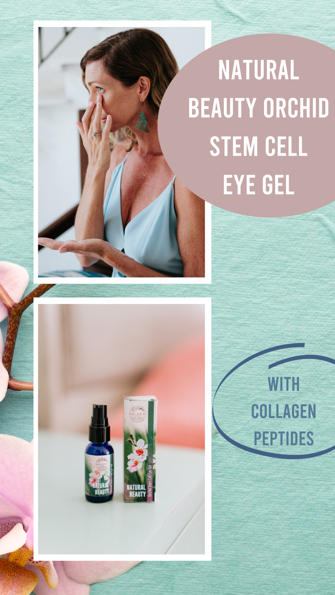 INFUSED WITH COLLAGEN PEPTIDES AND HYALURONIC ACID THAT WILL TIGHTEN AND FIRM : We added so much collagen to our eye gel that you can feel it working to tighten and firm your skin when you apply it. You will feel a warming and tingling sensation! Our eye firming gel will give you tired eyes a new lease of life. #eyegel #stemcell #natural #organicskincare #skincare #undereyegel #nalakai #nalakainaturals