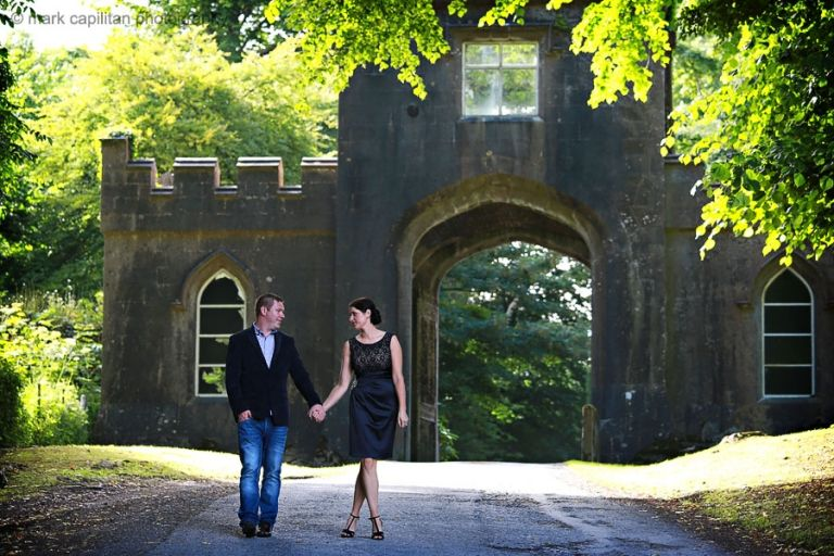 Engagement shoot on the grounds of Markree Castle wedding photographer sligo
