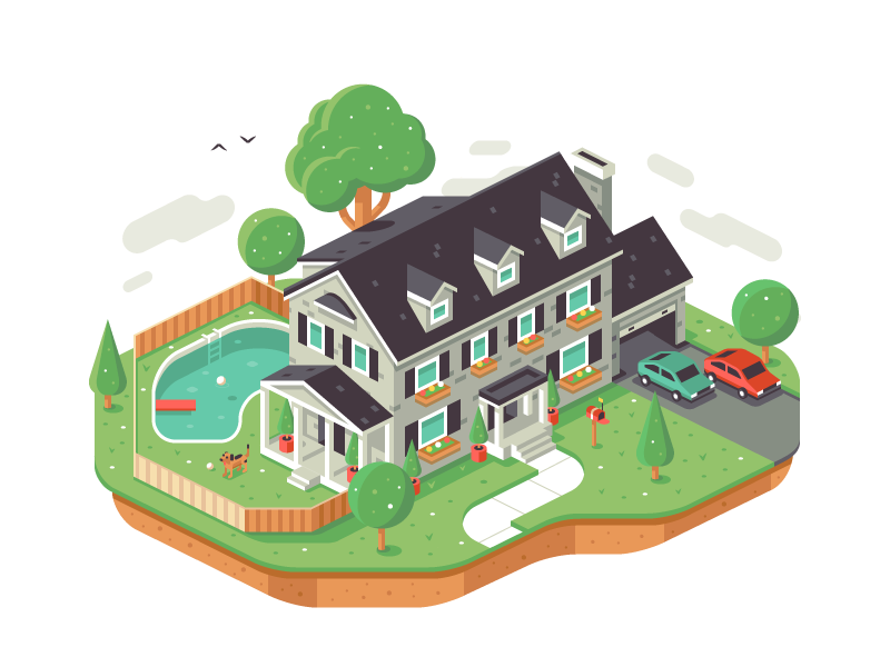 Isometric House Cartoon House Isometric Isometric Design