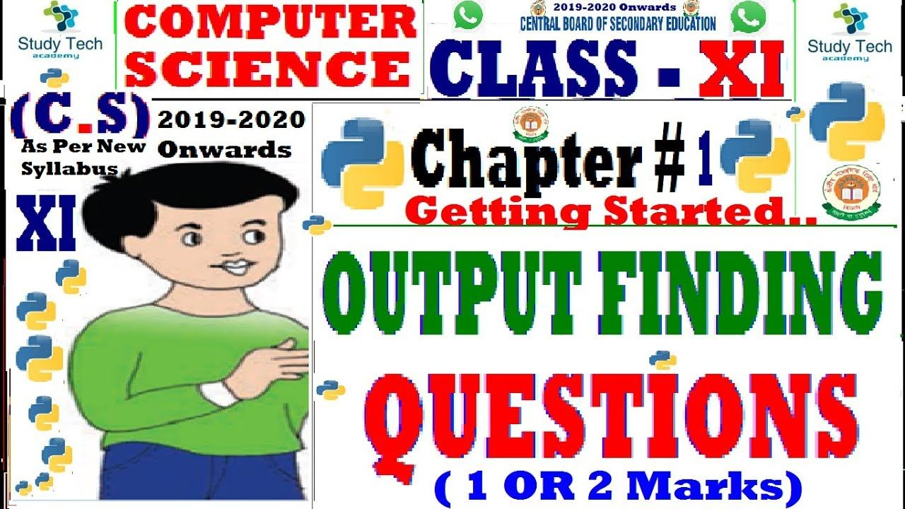 Class 11 Computer Science With Python Chapter 1 Getting Started Stud Computer Science Dear Students Science