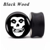 1 Single Flesh Tunnel Ear Plug Piercing Black To Screw 1,2-25mm Unisex Steel