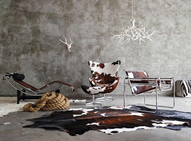 Cow : interiors pinterest koeienhuid meubelen interieur and