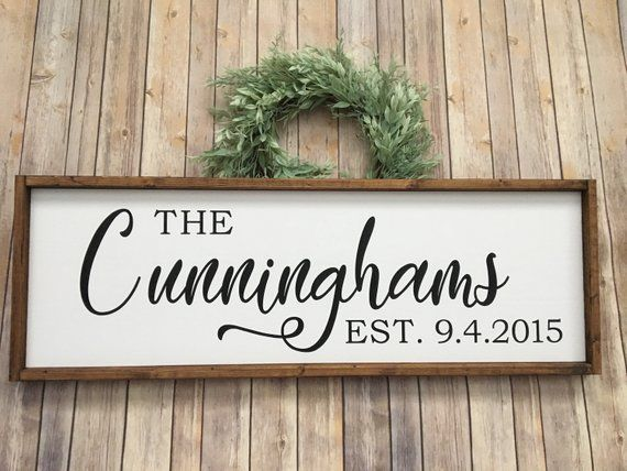 9a9d7e8227ad3 Wood Sign, Large Last Name Sign, Custom Family Name, Farmhouse Decor ...