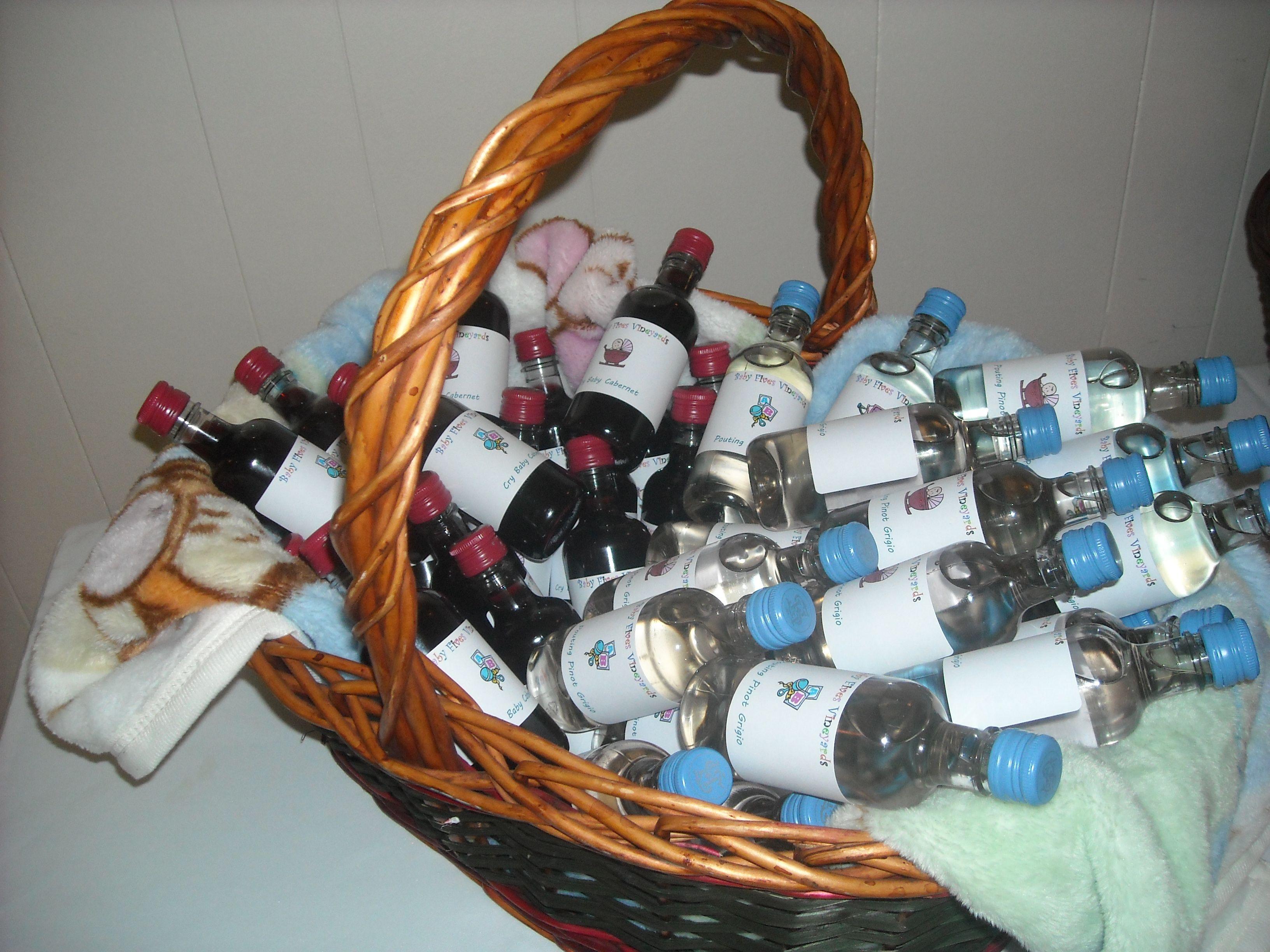 Baby shower favor Mini Wine bottles (sutter