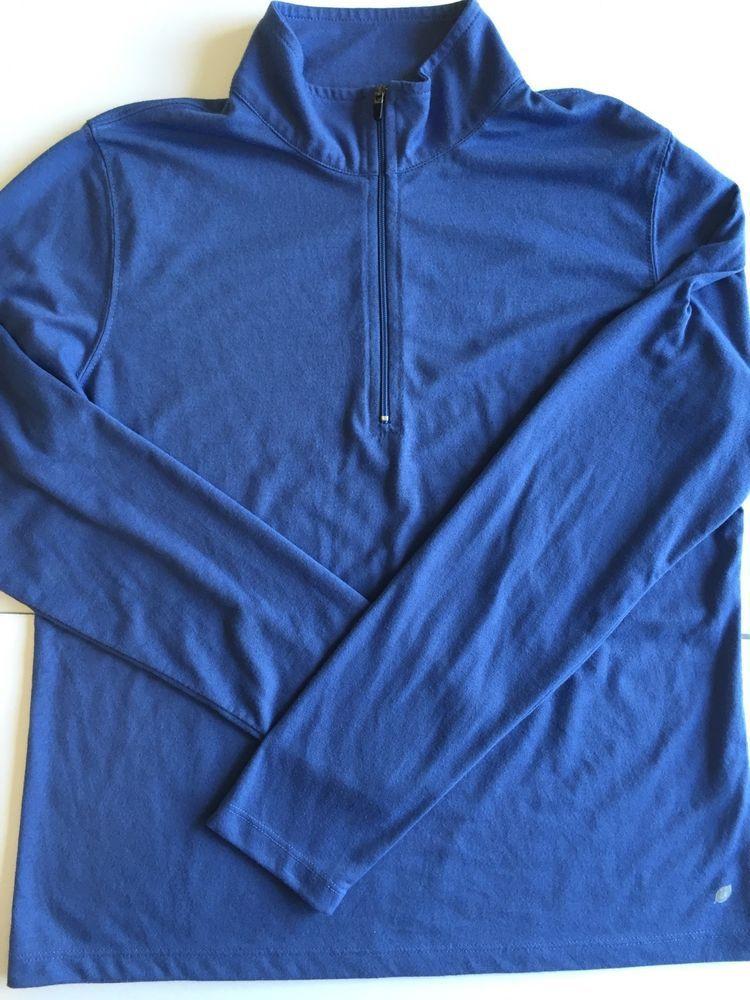 LL Bean Women s Polyester Pullover 1/4 Zip Activewear Top