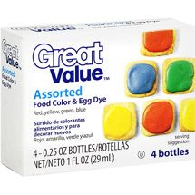 Walmart: Great Value Assorted Food Color & Egg Dye, 1 oz | Crafts ...