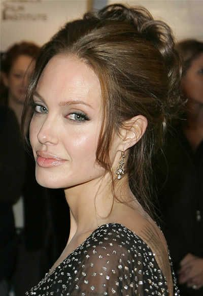 Angelina Jolie Updo Hairstyles Hair Styles Short Wedding Hair Angelina Jolie Hair