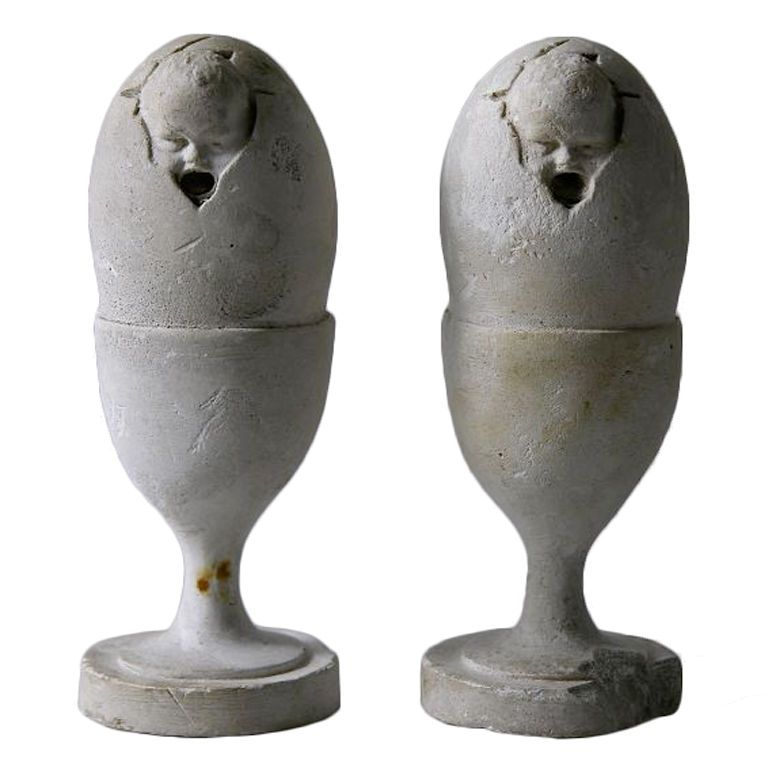 Egg Cups | From a unique collection of antique and modern sculptures and carvings at http://www.1stdibs.com/furniture/folk-art/sculptures-carvings/