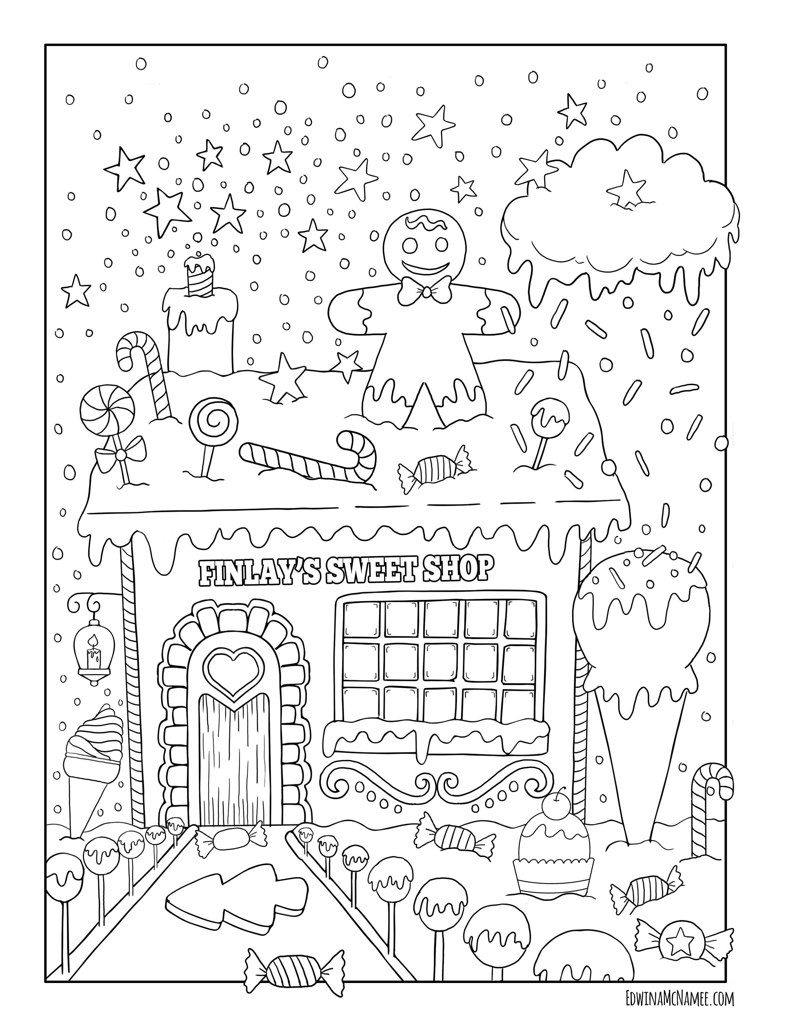 Christmas Freebies Edwina Mc Namee 塗り絵 Christmas Coloring