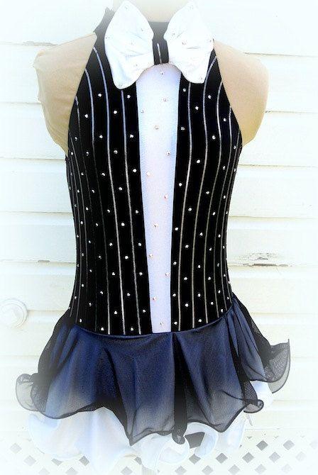 e5ce0d8e4e Black   White Tuxedo Figure Skating Dress by joshuajewelskate ...