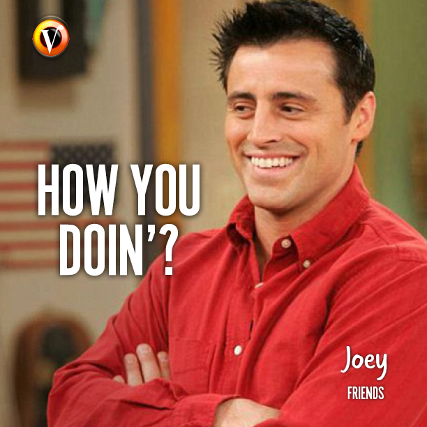 "Joey Tribbiani (Matt LeBlanc) in Friends: ""How you doin'? #quote  #superguide | Joey friends, Joey tribbiani, Friends tv"