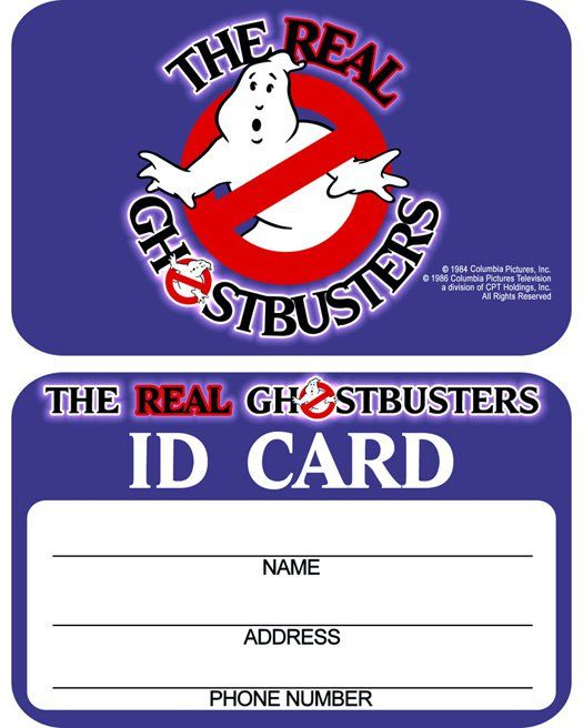 If my newer Kenner The Real Ghostbusters ID card hadn't been misplaced or lost I would have scanned it and included it with the Kenner Proton Pack instructions. Just because I don't have mine to sh… #deguisementfantomeenfant