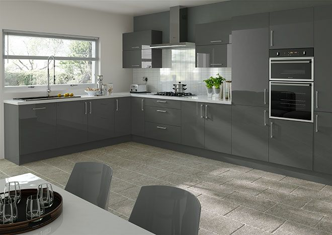 Kitchen, Grey Beautiful Gray Kitchen Cabinets: Grey kitchen Trendy ...