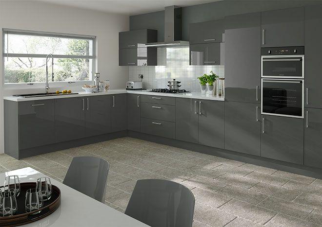 Kitchen Grey Beautiful Gray Kitchen Cabinets Grey kitchen Trendy