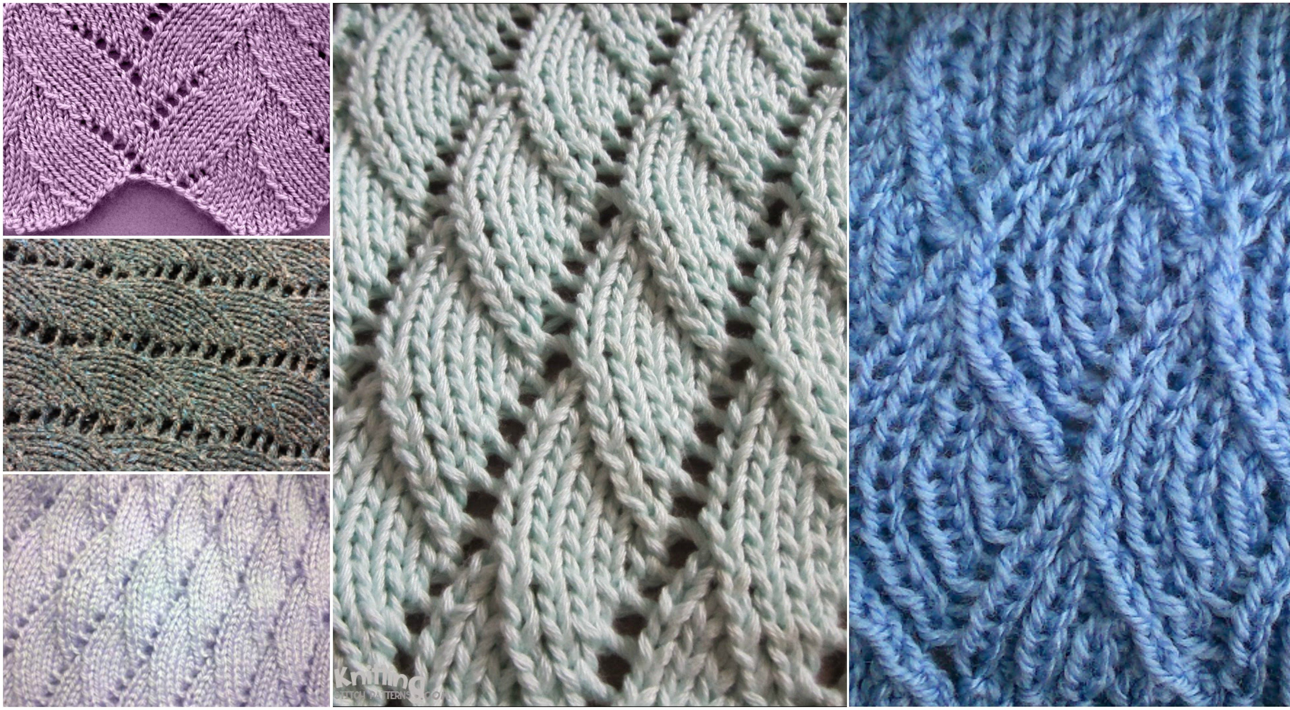How To Knit Overlapping Waves