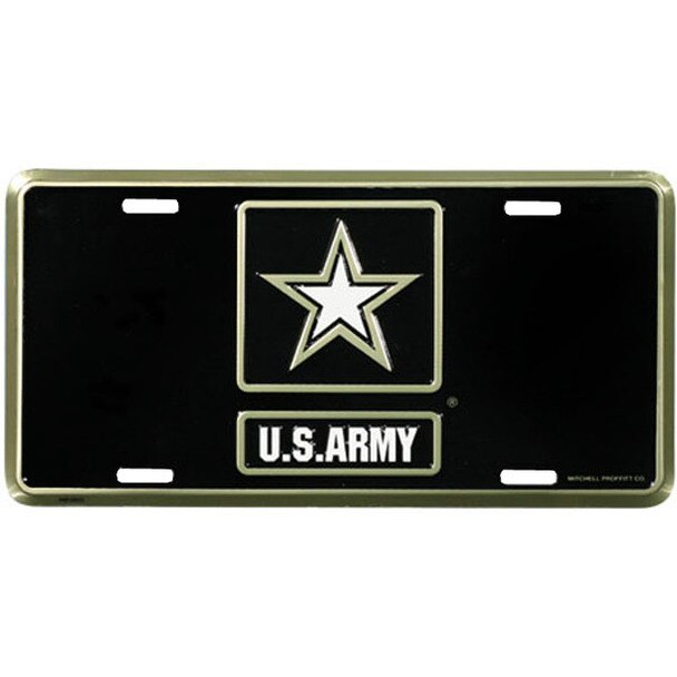 La49 U S Army Star Logo License Plate Made In Usa Star Logo Army Letters Army