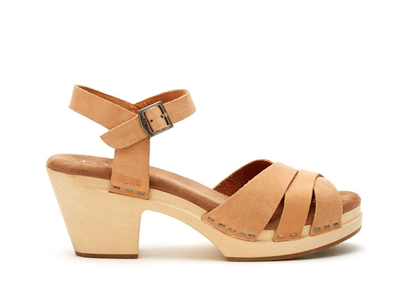 4926b1100e651d TOMS Sandstorm Leather Women s Beatrix Clog Sandals - Size 9.5 ...