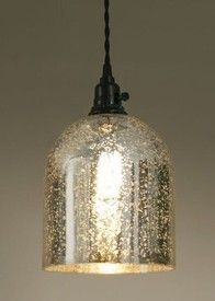 Mercury Glass Pendant Light Fixture Impressive Mercury Glass Montreal Pendant Lamp Light  Lighting Fixtures Design Ideas