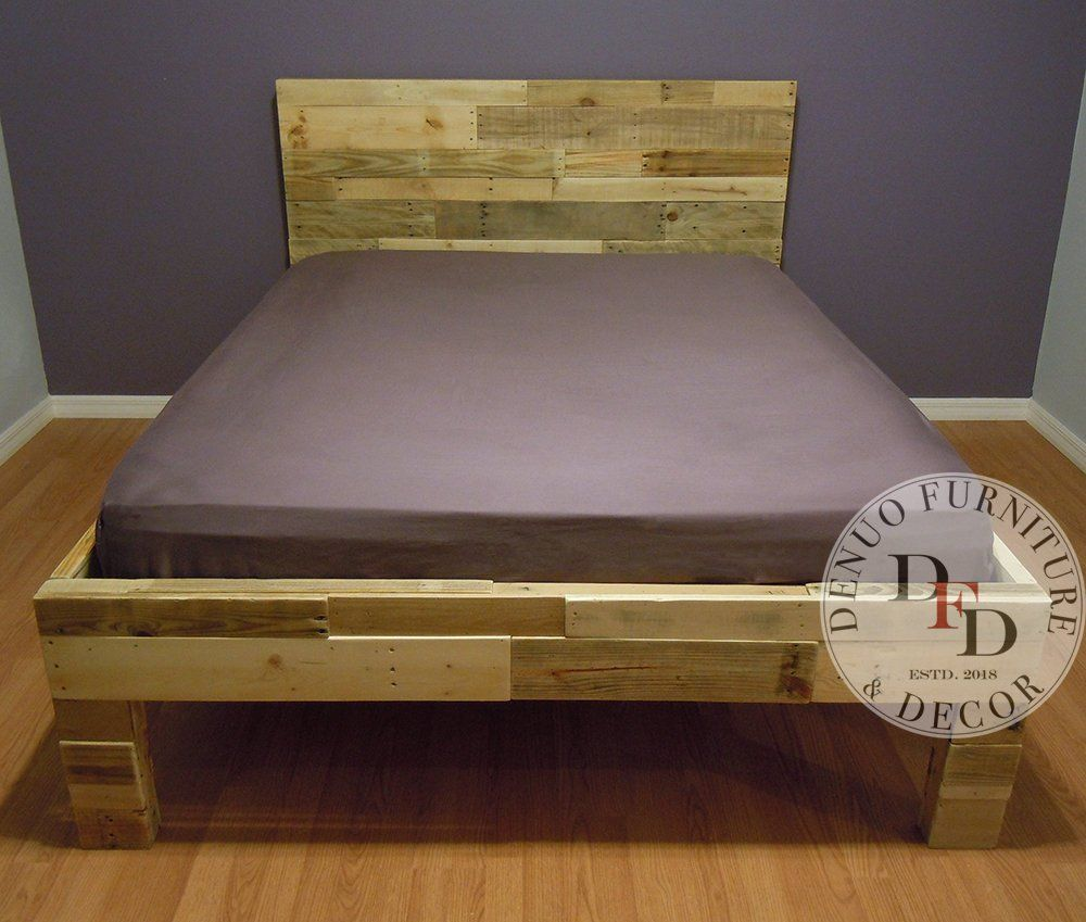 Queen Bed Frame Pallet Bed Reclaimed Wood Bed Frame Reclaimed
