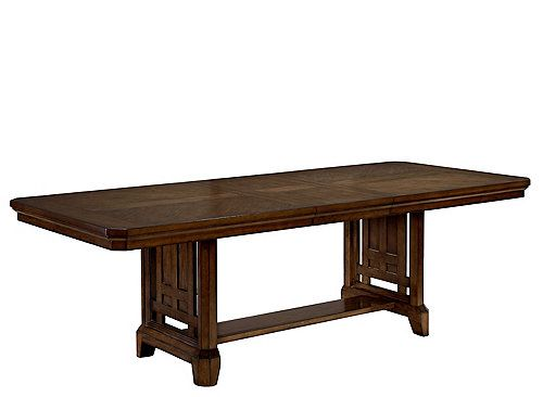This Acorn Hill Dining Table With Leaf Is Updated Mission
