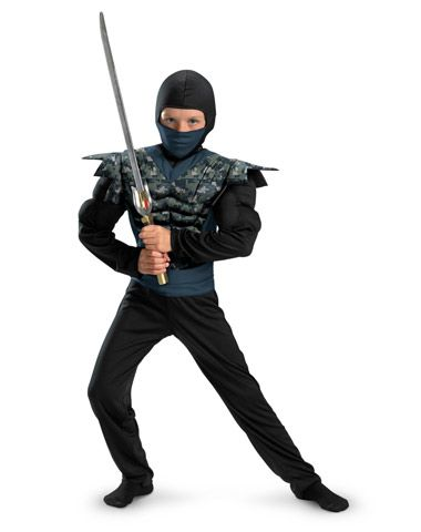 Night Camo Ninja Muscle Child Costume in Halloween 2012 from Spirit Halloween