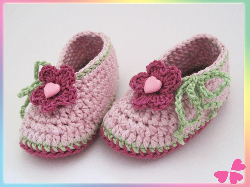 Häkelanleitung für Babyschuhe | Häkeln | Pinterest | Babyschühchen ...