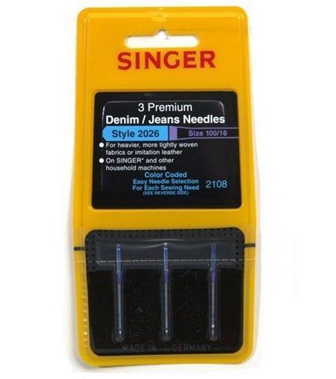 Singer Premium Denim/Jeans Machine Needles 3/Pk-Size 16/100